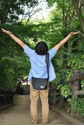柿田川、展望台への道