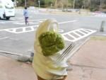 ソフトクリームに、生わさびのせちゃいました