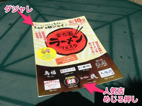 第1回 楽寿園ラーメンフェスタが開催された